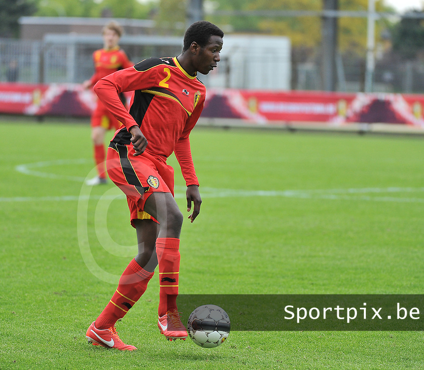 Belgium U19 - England U19 : David Iboma.foto DAVID CATRY / Nikonpro.be
