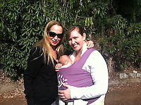 Jenise Blanc, Vanessa Cartier and baby Anabelle<br />