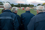 Alloa Athletic football supporters watching the visiting Aberdeen players celebrating their second goal at Recreation Park during the Co-operative Insurance Cup second round match. Scottish League second division Alloa lost the match by three goals to nil against their Premier League rivals in a match watched by 1649 spectators.