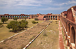 The Parade Grounds within Fort Jefferson on Garden Key in Dry Tortugas National Park, Florida