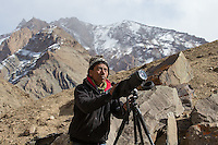 Tracking and searching for the snow leopard in Hemis National Park.
