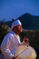 Musician, Mask Dance drama (Hahoe Yolshin-guttal-Nori), Hahoe Folk Village, South Korea