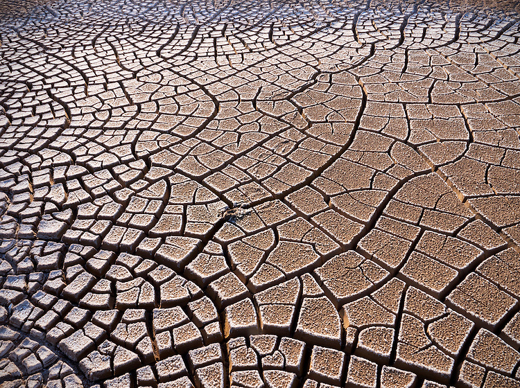 Cracked mud patterns in the Wilcox Playa near Wilcox in southeastern Arizona, USA