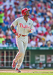 6 September 2014: Philadelphia Phillies outfielder Domonic Brown in action against the Washington Nationals at Nationals Park in Washington, DC. The Nationals fell to the Phillies 3-1 in the second game of their 3-game series. Mandatory Credit: Ed Wolfstein Photo *** RAW (NEF) Image File Available ***