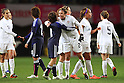 (L to R) Aya Miyama (JPN), Abby Wambach (USA), .April 1, 2012 - Football / Soccer : .KIRIN Challenge Cup 2012 .Match between Japan 1-1 USA .at Yurtec Stadium Sendai, Miyagi, Japan. .(Photo by Daiju Kitamura/AFLO SPORT) [1045]..