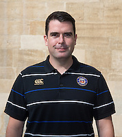 Head of Sports Medicine Declan Lynch poses for a portrait at a Bath Rugby photocall. Bath Rugby Media Day on September 8, 2015 at Farleigh House in Bath, England. Photo by: Rogan Thomson for Onside Images