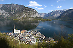Hallstatt Austria, from mountain, showing lake, looking east.