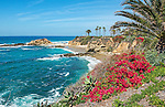 A view of the coast of California at the Montage Resort, Laguna Beach, in Orange County