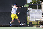 14 May 2016: Michigan's Tyler Gardiner. The Wake Forest University Demon Deacons hosted the University of Michigan Wolverines at the Wake Forest Tennis Center in Winston-Salem, North Carolina in a 2015-16 NCAA Division I Men's Tennis Tournament Second Round match. Wake Forest won the match 4-2.