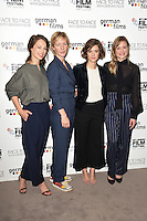 LONDON, UK. October 9, 2016: Paula Beer, Sandra Huller, Liv Lisa Fries &amp; Julia Jentsch  at the Face to Face with German Films photocall as part of the London Film Festival 2016, Mayfair Hotel, London.<br /> Picture: Steve Vas/Featureflash/SilverHub 0208 004 5359/ 07711 972644 Editors@silverhubmedia.com