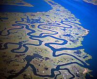 Coastal patterns near Atlantic City, Edwin B. Forsthye National Wildlife Reserve, New Jersey
