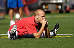 24 September 2006: Buffalo Bills punter Brian Moorman warms up prior to a game against the New York Jets at Ralph Wilson Stadium in Orchard Park, NY. The Jets defeated the Bills 28-20. Mandatory Photo Credit: Ed Wolfstein Photo