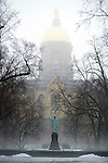 Fog The Golden Dome.JPG by Barbara Johnston/University of Notre Dame