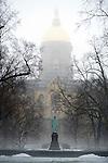 Fog The Golden Dome.JPG by Barbara Johnston/University of Notre Dame