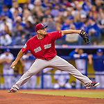 2 April 2016: Boston Red Sox pitcher Sean O'Sullivan on the mound during a pre-season exhibition game against the Toronto Blue Jays at Olympic Stadium in Montreal, Quebec, Canada. The Red Sox defeated the Blue Jays 7-4 in the second of two MLB weekend games, which saw a two-game series attendance of 106,102 at the former home on the Montreal Expos. Mandatory Credit: Ed Wolfstein Photo *** RAW (NEF) Image File Available ***
