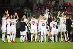 Spartak Trnava v St Johnstone...07.08.14  Europa League Qualifier 3rd Round<br /> The Spartak Trnava players celebrate at full time<br /> Picture by Graeme Hart.<br /> Copyright Perthshire Picture Agency<br /> Tel: 01738 623350  Mobile: 07990 594431