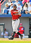 4 March 2012: Houston Astros' infielder Delino DeShields Jr.  in action against against the Washington Nationals at Space Coast Stadium in Viera, Florida. The Astros defeated the Nationals 10-2 in Grapefruit League action. Mandatory Credit: Ed Wolfstein Photo