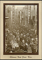 BNPS.co.uk (01202 558833)<br /> Pic: Tooveys/BNPS<br /> <br /> Chinese New Year.<br /> <br /> A fascinating set of early images of Hong Kong long before it became the metropolis it is today have surfaced. <br /> <br /> The black and white photographs dating to the early 20th century depict a region unrecognisable to what stands today. <br /> <br /> There are several shots of natives walking down packed low-rise streets while a number of others picture primitive sailing boats. <br /> <br /> The collection was compiled by adventurous British photographer Denis H. Hazell, who took each of the 26 postcard-like photos.