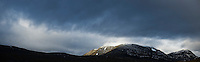 Mountain landscape view near Singi, Kungsleden trail, Lapland, Sweden