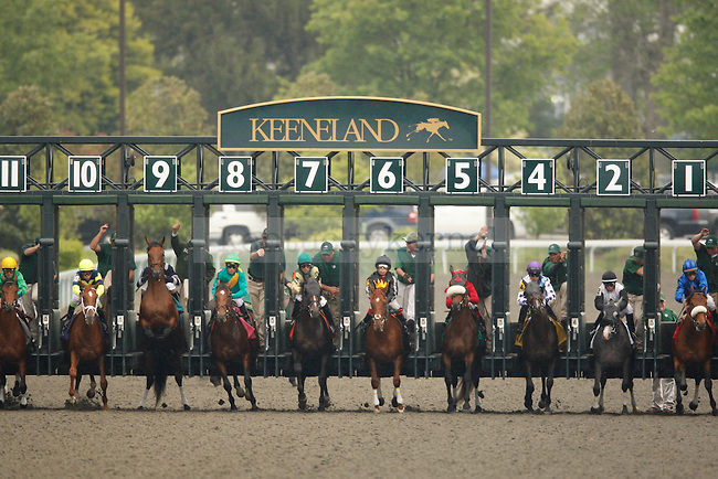 at Keeneland Racetrack in Lexington, Ky., on Saturday, April 14, 2012. Photo by Tessa Lighty | Staff