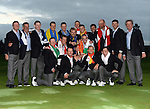 The European Team celebrate with the Ryder Cup <br /> <br /> Photographer Ian Cook/CameraSport<br /> <br /> International Golf - 2014 Ryder Cup - Day 3 - Sunday 28th September 2014 - PGA Centenary Course - Gleneagles Hotel - Auchterarder, Scotland<br /> <br /> &copy; CameraSport - 43 Linden Ave. Countesthorpe. Leicester. England. LE8 5PG - Tel: +44 (0) 116 277 4147 - admin@camerasport.com - www.camerasport.com
