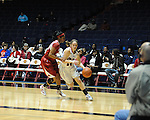 "Ole Miss' Maggie McFerrin (14) vs. Arkansas at the C.M. ""Tad"" Smith Coliseum in Oxford, Miss. on Thursday, January 12, 2012."