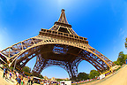Paris - France -Eifel Tower - wide angle photo