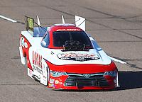 Feb 25, 2017; Chandler, AZ, USA; NHRA funny car driver Del Worsham during qualifying for the Arizona Nationals at Wild Horse Pass Motorsports Park. Mandatory Credit: Mark J. Rebilas-USA TODAY Sports
