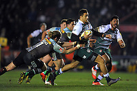 Peter Betham of Leicester Tigers goes on the attack. Aviva Premiership match, between Harlequins and Leicester Tigers on February 19, 2016 at the Twickenham Stoop in London, England. Photo by: Patrick Khachfe / JMP