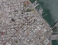 aerial photo map of San Francisco, California, 2014