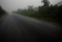 south Laos, August 21, 2007.Driving trough a fierce night monsoon thunderstorm...