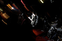 Overdose plays a concert at Castle Bar on drummer Duwei's birthday in Nanjing, Jiangsu, China.  Overdose moved to Beijing in late 2008 to pursue their musical career.