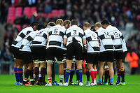 The Barbarians team huddle together prior to the match. Killik Cup International match, between the Barbarians and South Africa on November 5, 2016 at Wembley Stadium in London, England. Photo by: Patrick Khachfe / JMP
