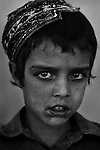 Sharif Ulah, 3 - child of Afghan Mangal refugees, born in Pakistan, living now in Afghanistan's eastern Khost Province on Sunday Oct. 5, 2008.