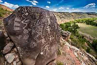 Ancient Petroglyphs in Southern Utah, Fremont Culture rock art, Washington County   Santa Clara River