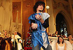 Waterbury, CT-04 January010409-010409MK01 Daniel Robert Santos juggles as he performs for the King and Queen during the fourth annual Boars Head Festival at The Shrine of St. Anne in Waterbury Sunday afternoon. Michael Kabelka Republican-American