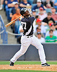 5 March 2011: New York Yankees' outfielder Melky Mesa in action during a Spring Training game against the Washington Nationals at George M. Steinbrenner Field in Tampa, Florida. The Nationals defeated the Yankees 10-8 in Grapefruit League action. Mandatory Credit: Ed Wolfstein Photo