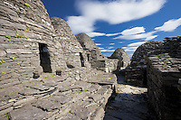 Monastery and Stone Cross on World Heritage Site Skellig Michael, County Kerry, Ireland I love the Skelligs,