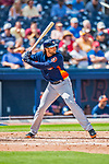 28 February 2017: Houston Astros outfielder Jake Marisnick in action during the Spring Training inaugural game against the Washington Nationals at the Ballpark of the Palm Beaches in West Palm Beach, Florida. The Nationals defeated the Astros 4-3 in Grapefruit League play. Mandatory Credit: Ed Wolfstein Photo *** RAW (NEF) Image File Available ***