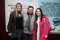 NO REPRO FEE. OXYGEN 2011 LAUNCH. Pictured at the Academy, Dublin for the launch of Oxygen 2011 are  Shona Ryan, Pete Murphy and Jacqueline Lacy . The three day music festival which takes place July 8th, 9th, 10th at Punchestown Racecourse, Naas, Co Kildare. Picture James Horan/Collins Photos