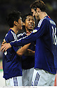 (L-R) Shinji Kagawa, Kengo Nakamura,  Mike Havenaar (JPN), OCTOBER 11, 2011 - Football / Soccer : Shinji Kagawa of Japan celebrates with his teammates Kengo Nakamura and Mike Havenaar after scoring their fourth goal during the 2014 FIFA World Cup Asian Qualifiers Third round Group C match between Japan 8-0 Tajikistan at Nagai Stadium in Osaka, Japan. (Photo by Takamoto Tokuhara/AFLO)