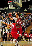 12 December 2010: University of Vermont Catamount forward Garrett Kissel (45), a Senior from Springfield, MA, in action against the Marist College Red Foxes at Patrick Gymnasium in Burlington, Vermont. The Catamounts (7-2) defeated the Red Foxes  75-67 notching their 7th win of the season, and their best start since the '63-'64 season. Mandatory Credit: Ed Wolfstein Photo