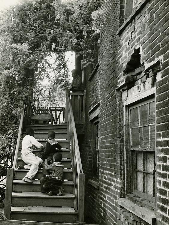 1958 Spring..Redevelopment..Downtown North (R-8)..Slum Conditions..Neal Clark Jr..NEG# copy MDA71-49-10.NRHA# 3357..