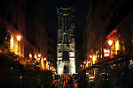 France, Paris, October 28, 2011..General view of the Saint Jaques Tower in Paris October 28 , 2011. VIEWpress / Kena Betancur..Paris is today one of the world's leading business and cultural centres, and its influences in politics, education, entertainment, media, fashion, science, and the arts all contribute to its status as one of the world's major global cities. Media Reported.