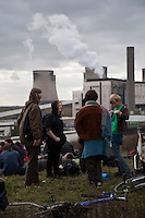 Owned by E.ON, the Ratcliffe-on-Soar power station is the 3rd most polluting power station in the UK.  On 17/18 October, 2009, climate change protesters attempted to invade and shut down the power station.  The event was called the Great Climate Swoop.
