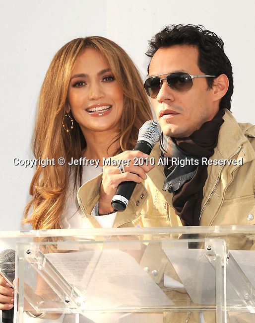 WEST HOLLYWOOD, CA. - November 18: Jennifer Lopez and Marc Anthony announce a new partnership with Kohl's at The London Hotel on November 18, 2010 in West Hollywood, California.