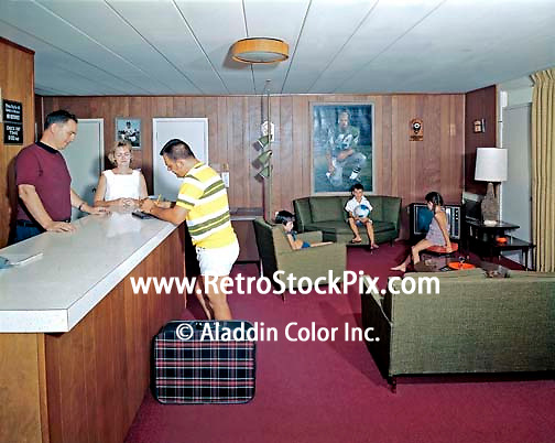 All Star Motel In Wildwood New Jersey Family Checking In At The Front Desk Of The Retro Lobby
