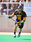 19 April 2009: University at Albany Great Dames' Midfielder John Alpizar, a Senior from Summit, NJ, in action against the University of Vermont Catamounts at Moulton Winder Field in Burlington, Vermont. The Danes defeated the Cats 9-6 in Vermont's last home game of the 2009 season. Mandatory Photo Credit: Ed Wolfstein Photo