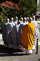 "Many Japanese Buddhist monks make their pilgrimage to Koyasan as well as the many other ""henro"" or white-clad pilgrims making their way from temple to temple.  Though the most famous trail in Japan is around Shikoku Island's 88 temples, Koya-san is another hot spot."