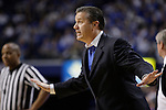UK head coach John Calipari during the first half of the men's basketball game against Mississippi State at Rupp Arena in Lexington, Ky. on Saturday, February 27, 2013. Photo by Genevieve Adams